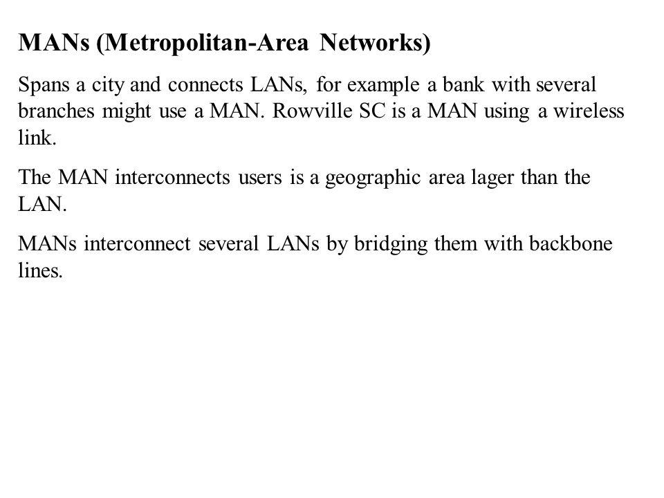 MANs (Metropolitan-Area Networks)