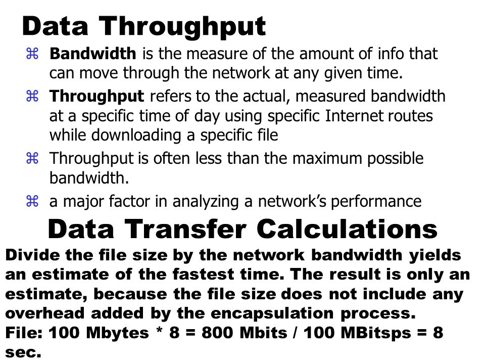 Data Transfer Calculations