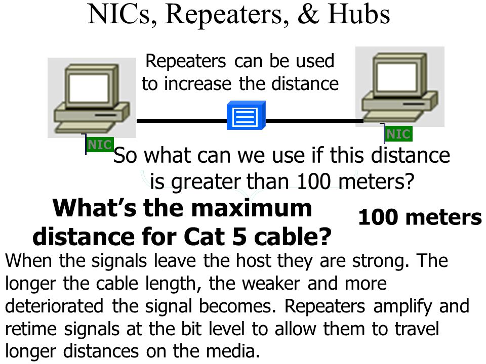 What's the maximum distance for Cat 5 cable
