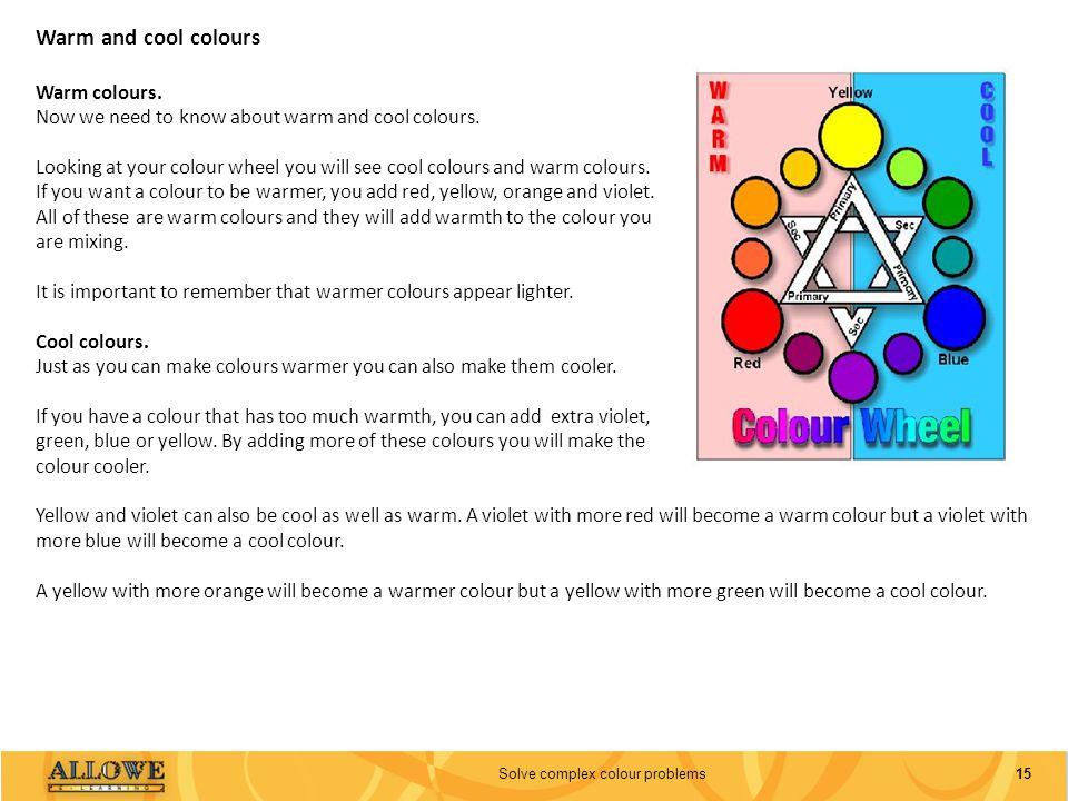 Solve complex colour problems
