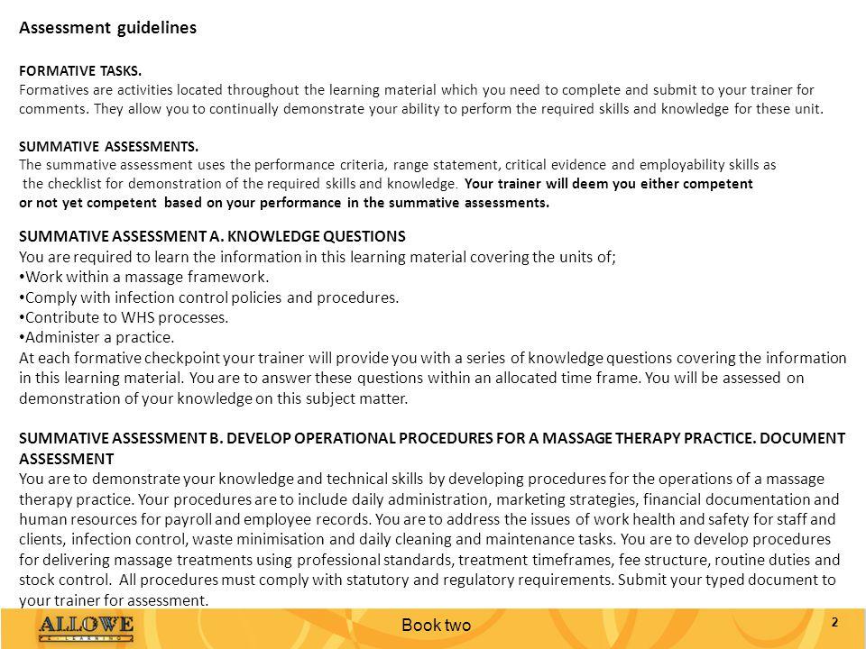 Assessment guidelines