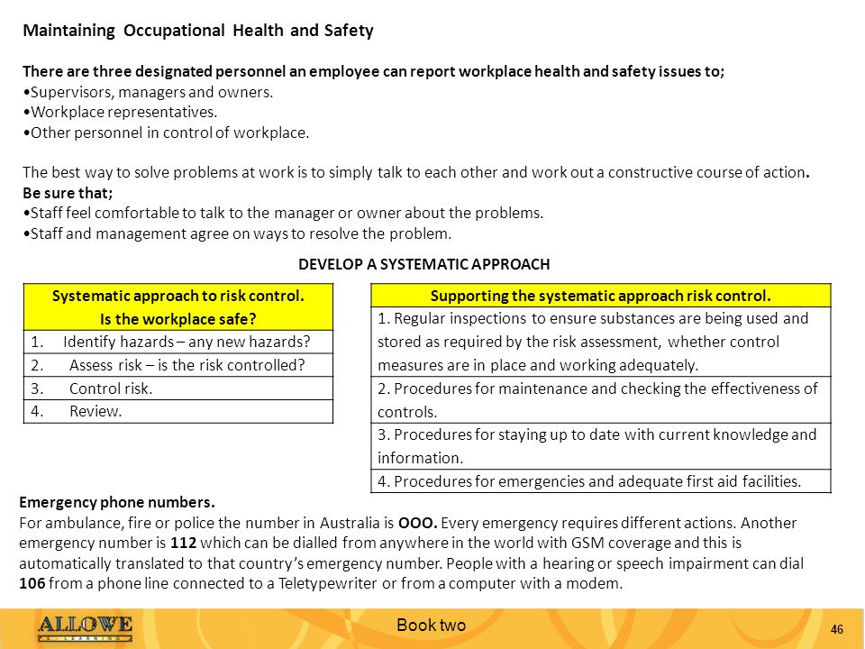 Maintaining Occupational Health and Safety