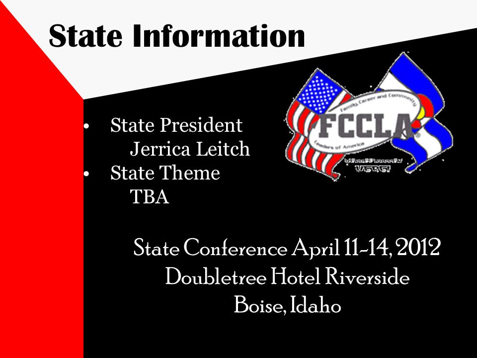 State Information State Conference April 11-14, 2012