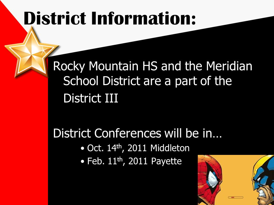 District Information: