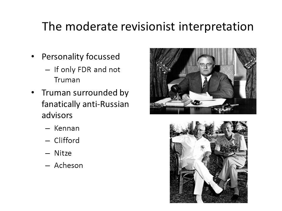 The moderate revisionist interpretation