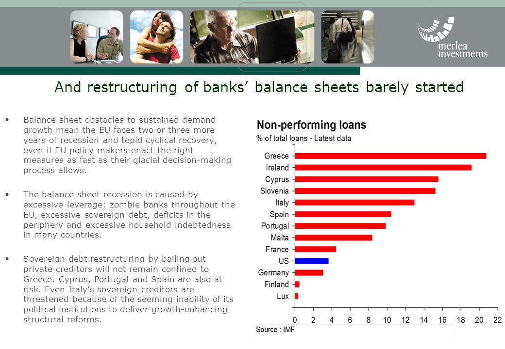 And restructuring of banks' balance sheets barely started