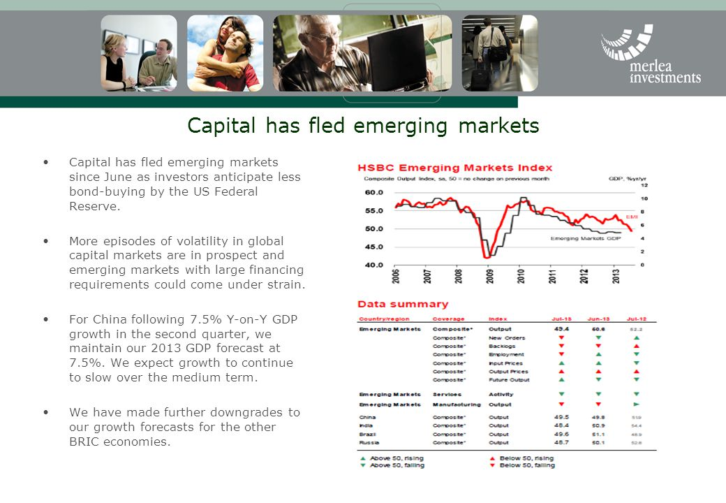 Capital has fled emerging markets