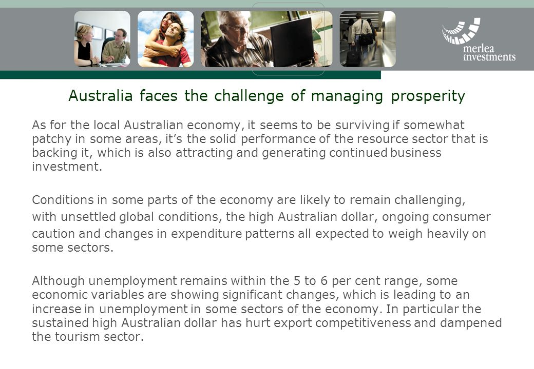 Australia faces the challenge of managing prosperity