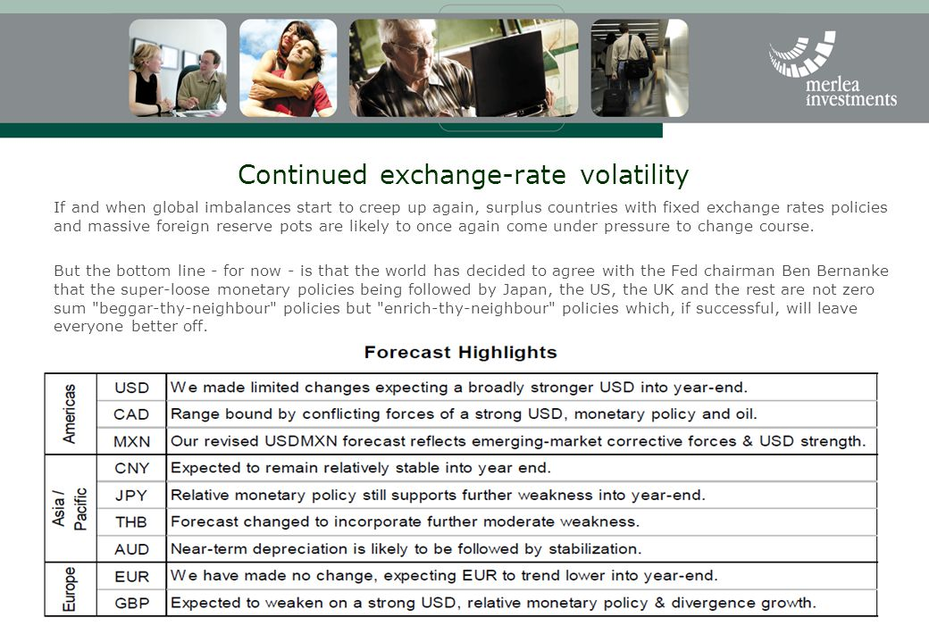 Continued exchange-rate volatility