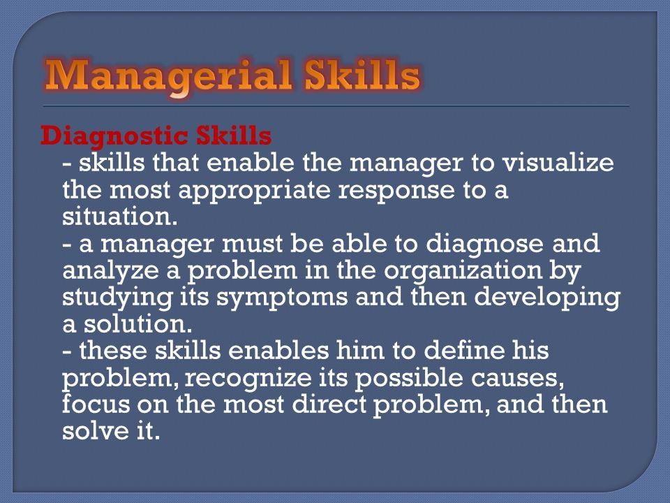 Managerial Skills