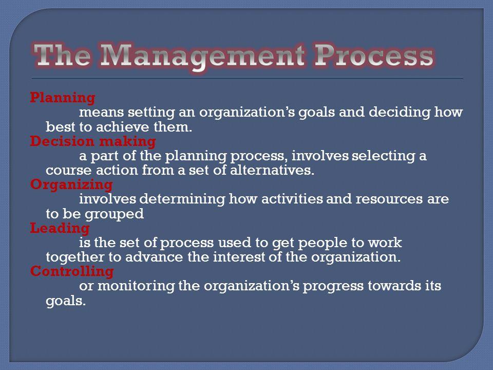 The Management Process