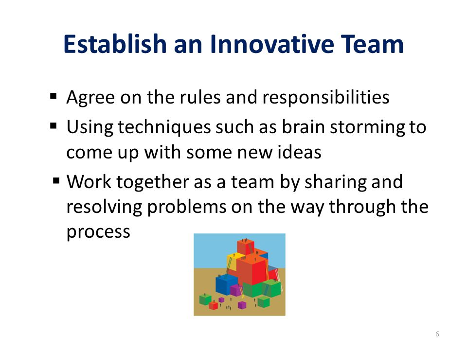Establish an Innovative Team