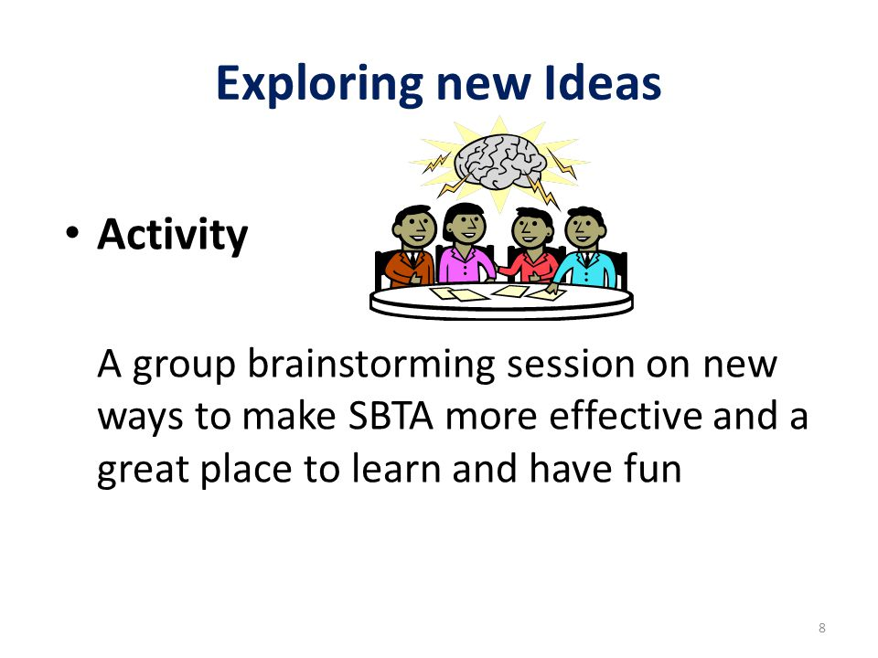 Exploring new Ideas Activity