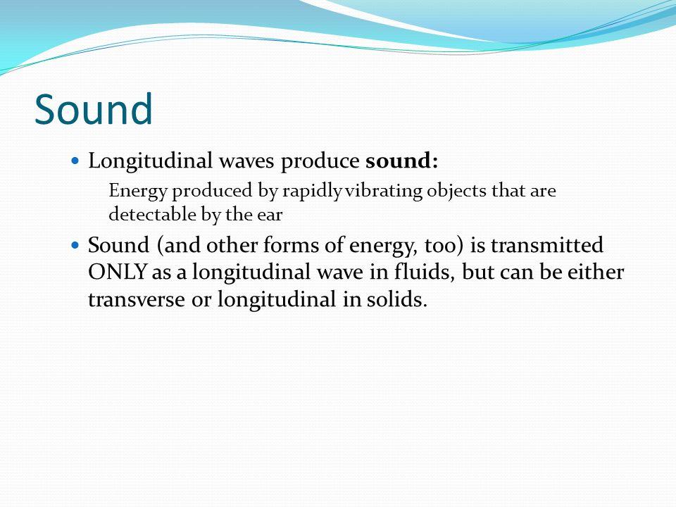 Sound Longitudinal waves produce sound: