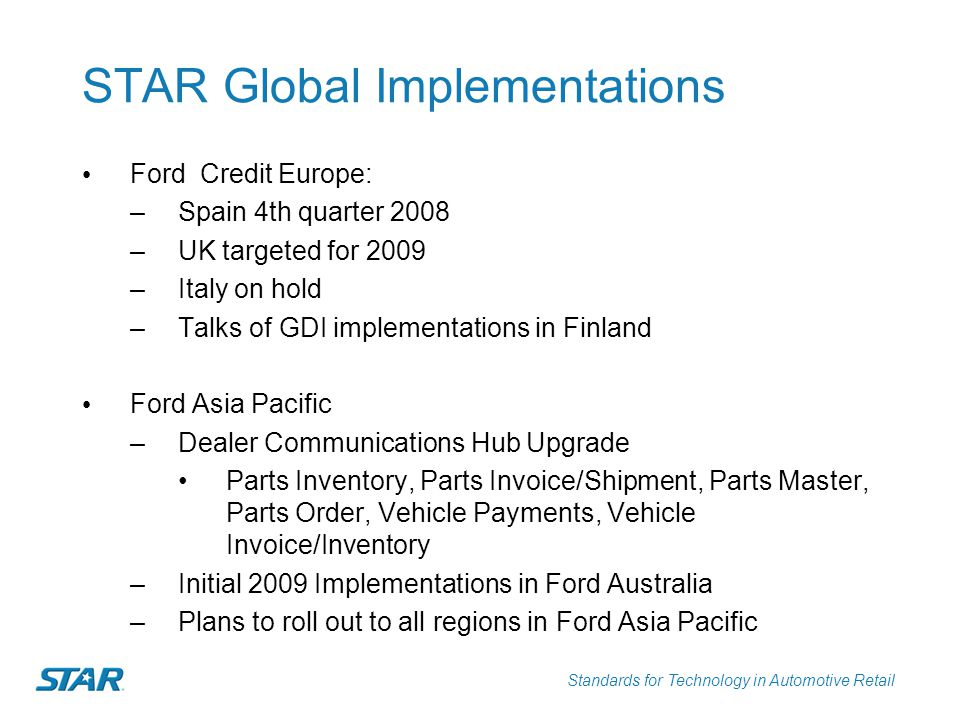 STAR Global Implementations