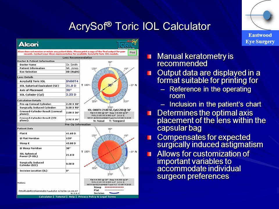 AcrySof® Toric IOL Calculator