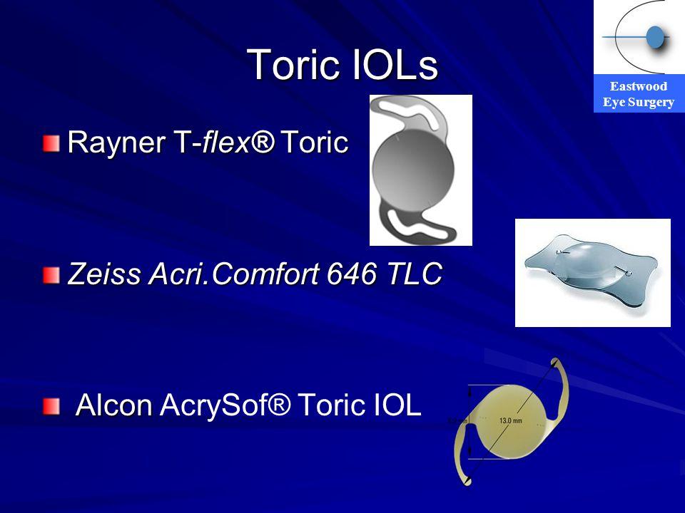 Toric IOLs Rayner T-flex® Toric Zeiss Acri.Comfort 646 TLC