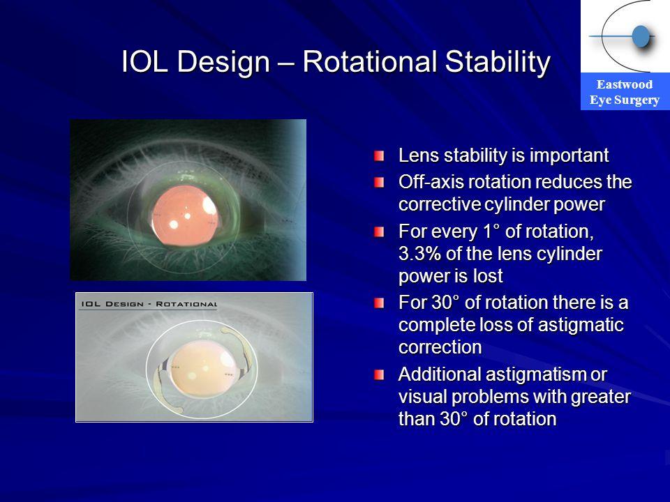 IOL Design – Rotational Stability