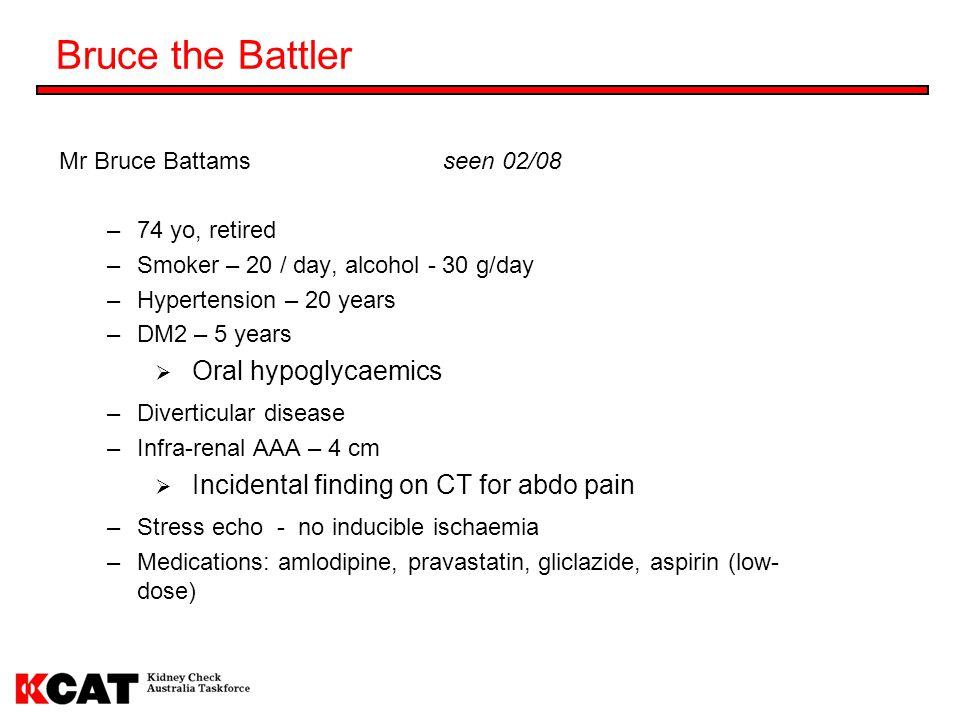Bruce the Battler Oral hypoglycaemics