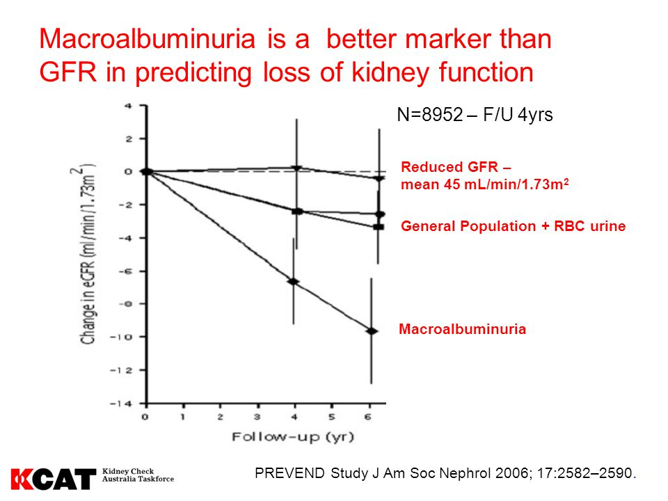 Macroalbuminuria is a better marker than GFR in predicting loss of kidney function