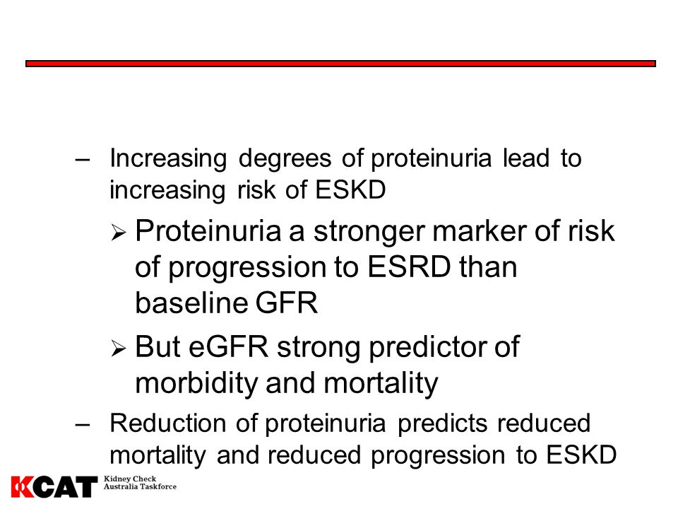 But eGFR strong predictor of morbidity and mortality
