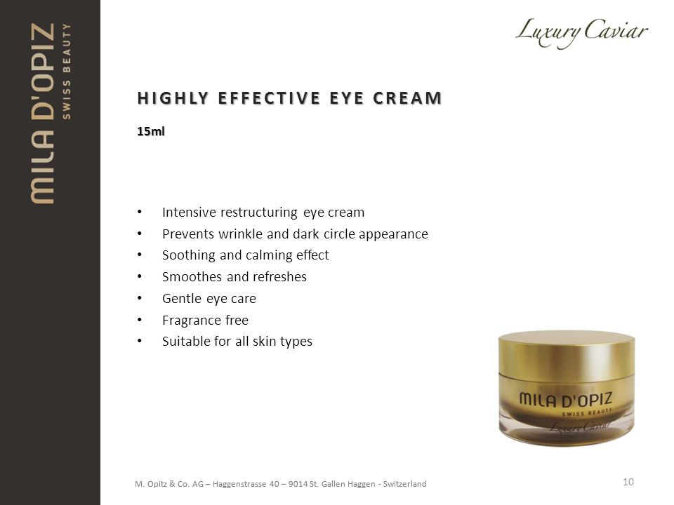 HIGHLY EFFECTIVE EYE CREAM