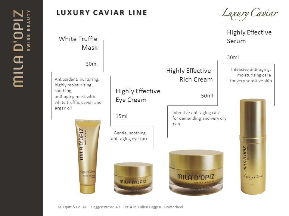 LUXURY CAVIAR LINE Highly Effective Serum White Truffle Mask