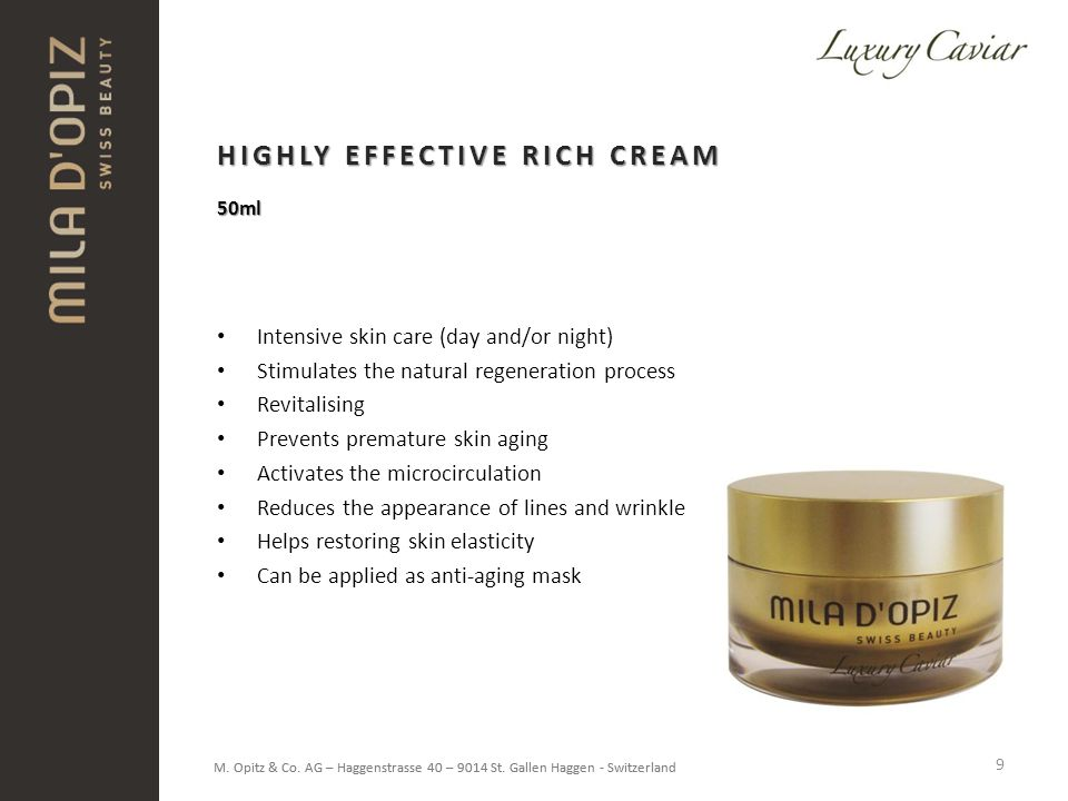 HIGHLY EFFECTIVE RICH CREAM