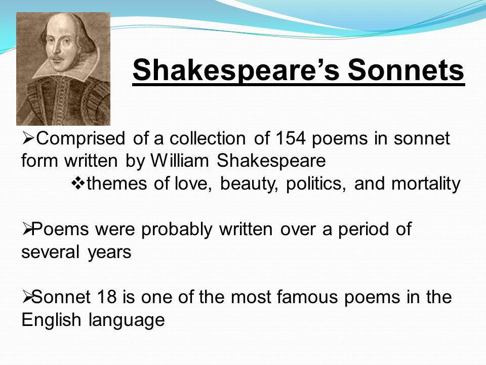 a literary analysis of the english sonnet by william shakespeare Language: english country keywords: 17th century literature, british literature william shakespeare, sonnet 12, the sonnets.