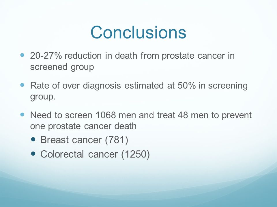 Conclusions Breast cancer (781) Colorectal cancer (1250)