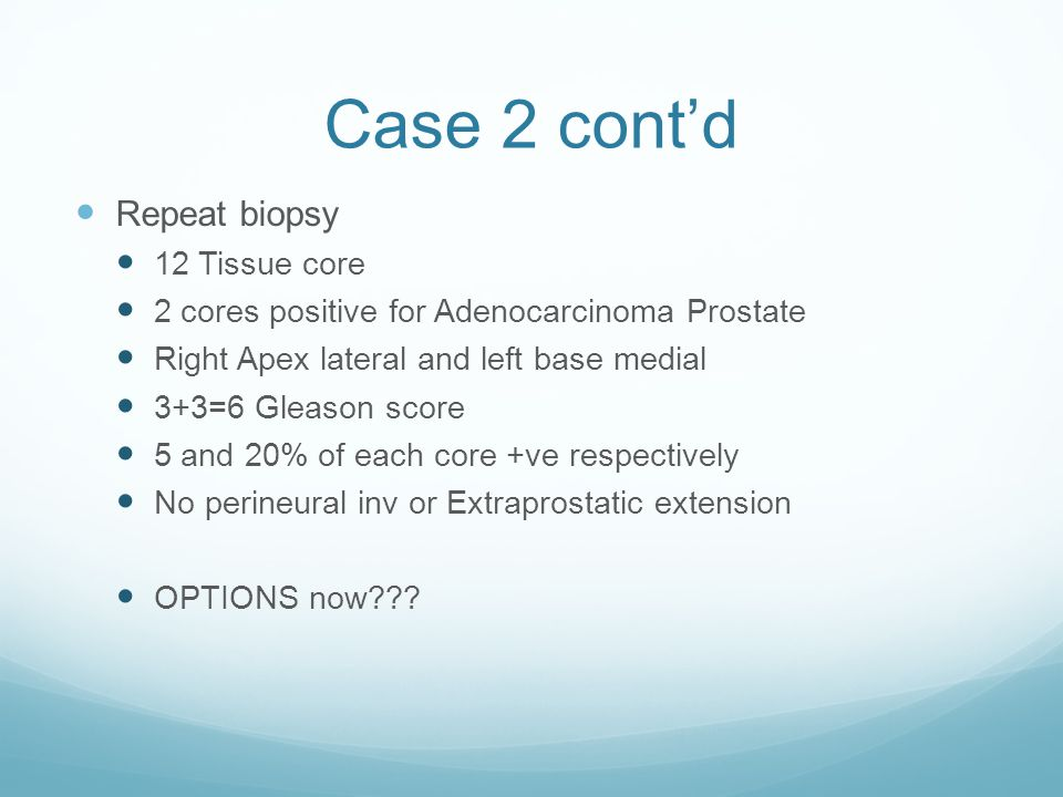 Case 2 cont'd Repeat biopsy 12 Tissue core