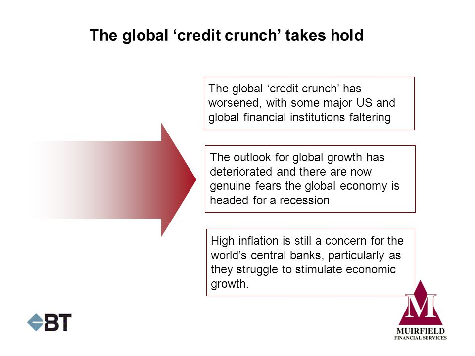 The global 'credit crunch' takes hold