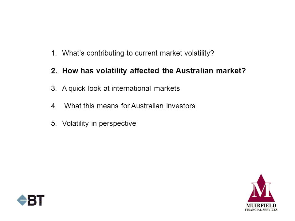 2. How has volatility affected the Australian market