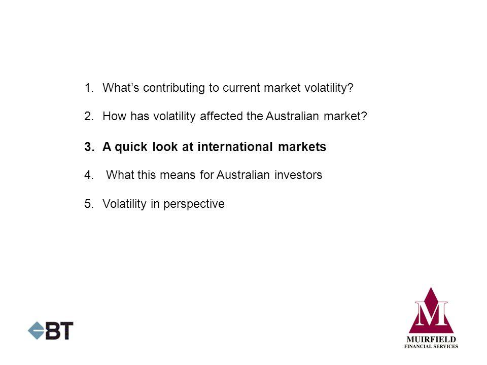 3. A quick look at international markets