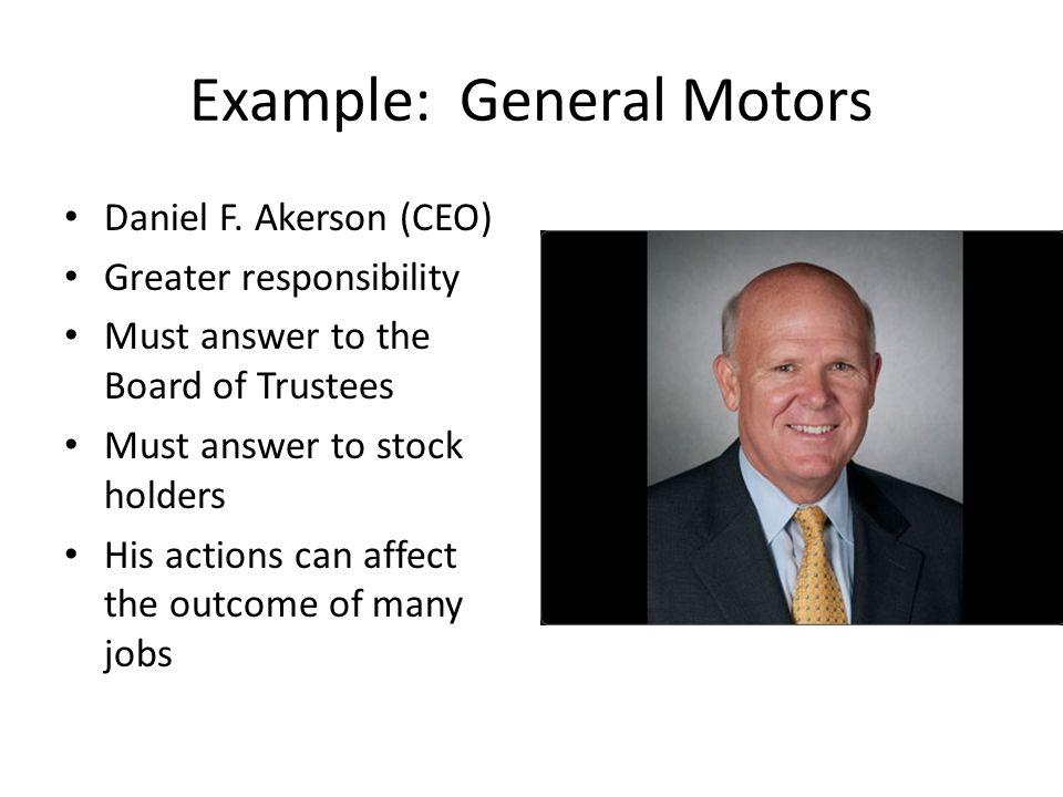 Example: General Motors