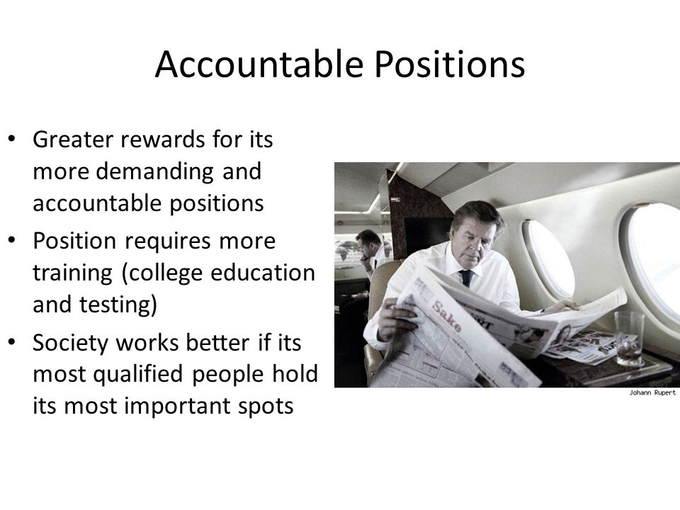 Accountable Positions