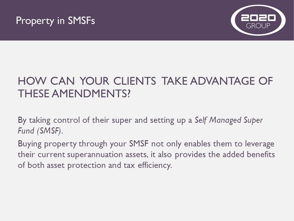 HOW CAN YOUR CLIENTS TAKE ADVANTAGE OF THESE AMENDMENTS