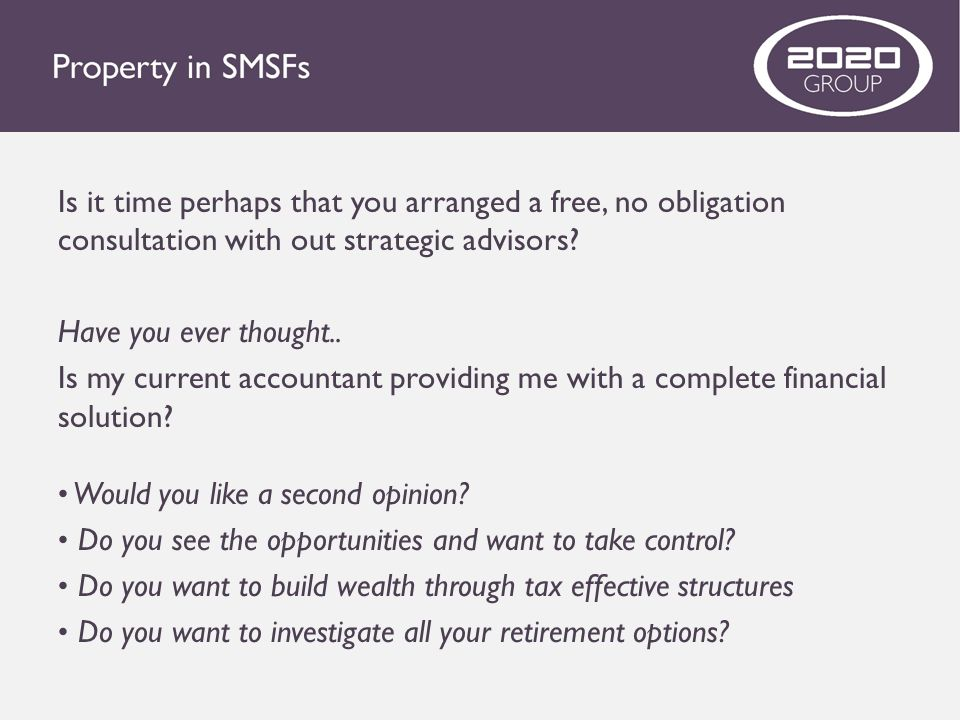 Is it time perhaps that you arranged a free, no obligation consultation with out strategic advisors