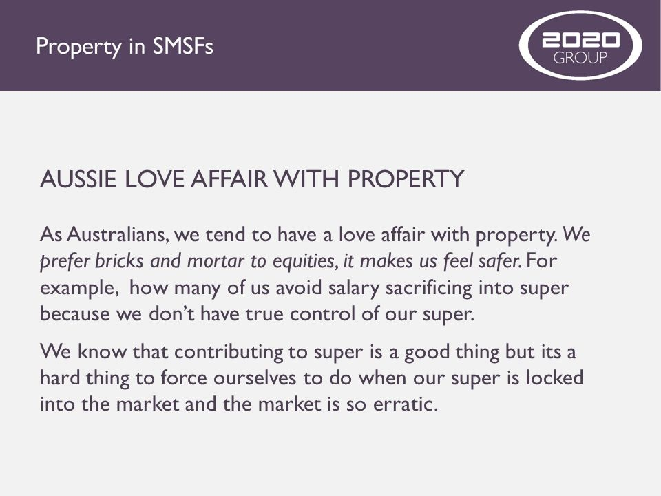 AUSSIE LOVE AFFAIR WITH PROPERTY
