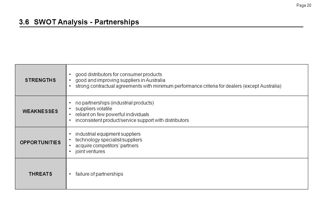 3.6 SWOT Analysis - Partnerships