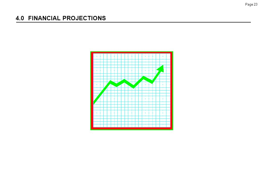 4.0 FINANCIAL PROJECTIONS