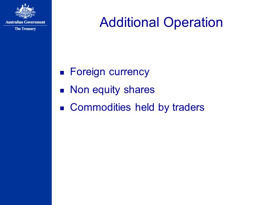 Additional Operation Foreign currency Non equity shares