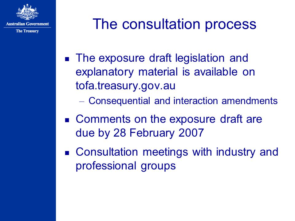 The consultation process