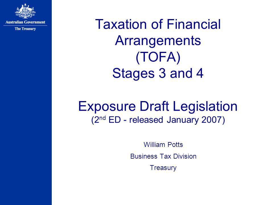William Potts Business Tax Division Treasury
