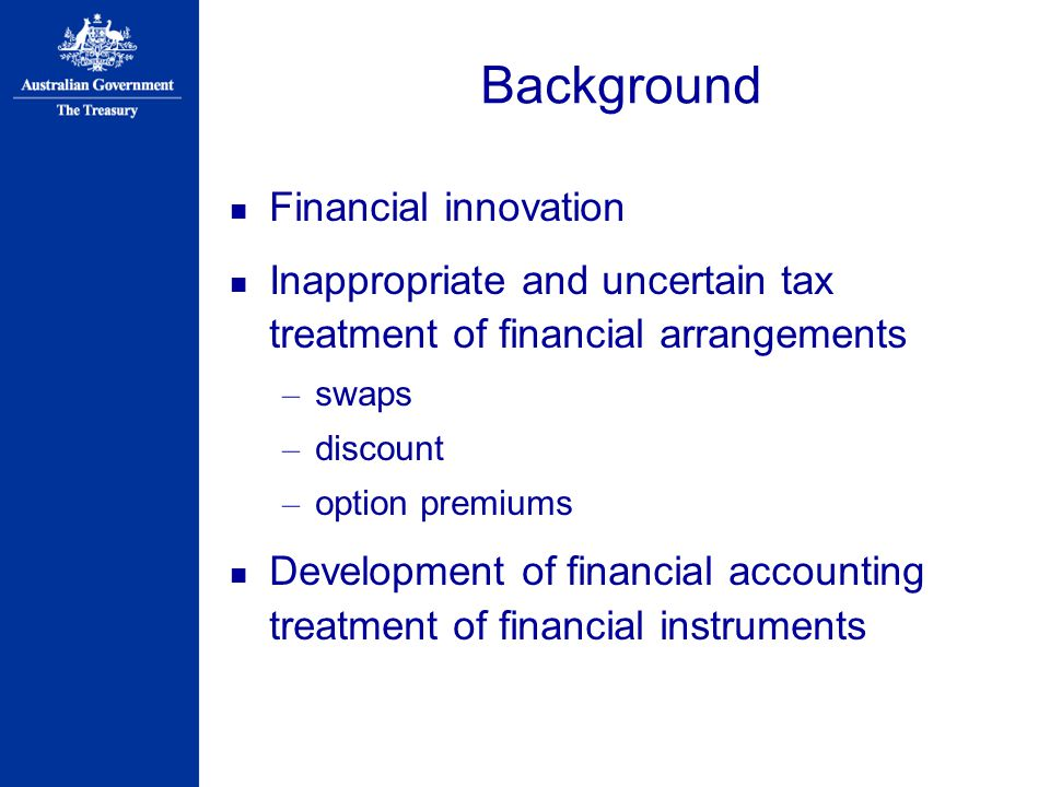 Background Financial innovation
