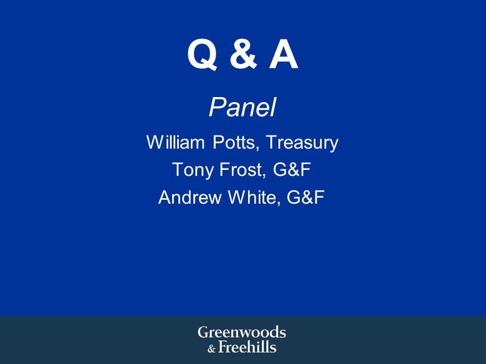 William Potts, Treasury
