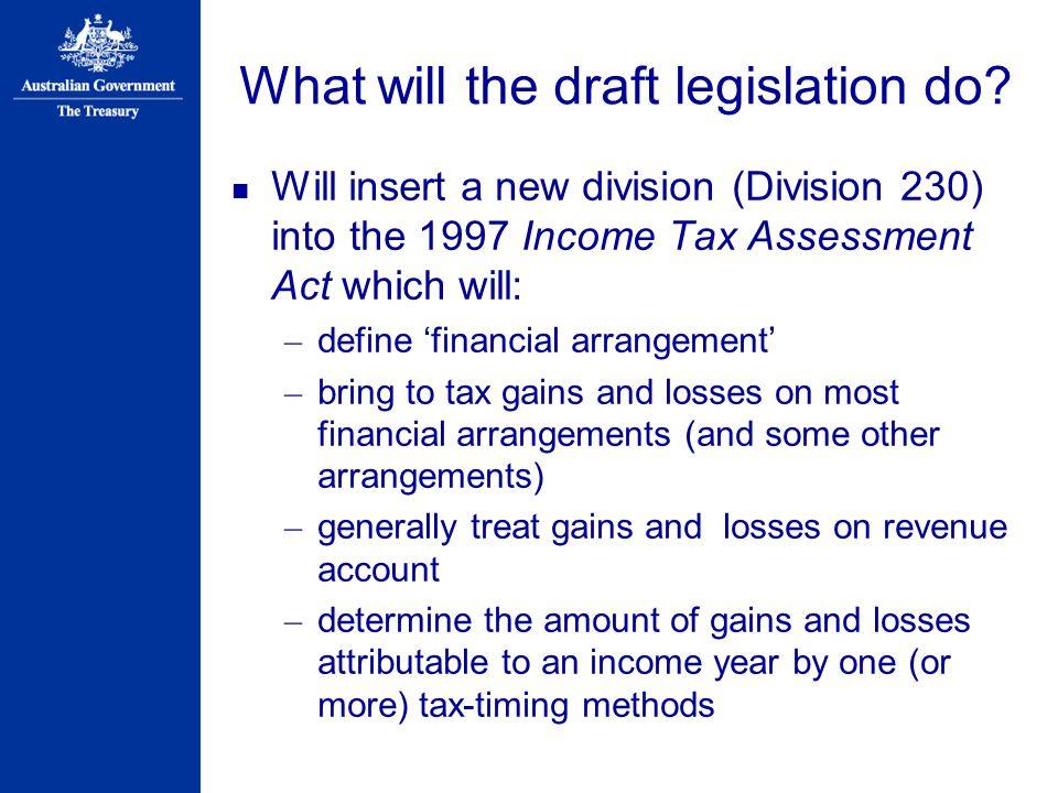 What will the draft legislation do