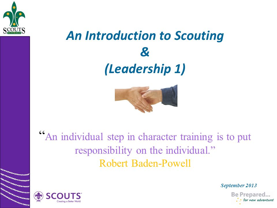 An Introduction to Scouting