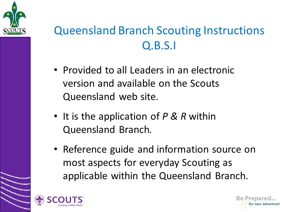 Queensland Branch Scouting Instructions