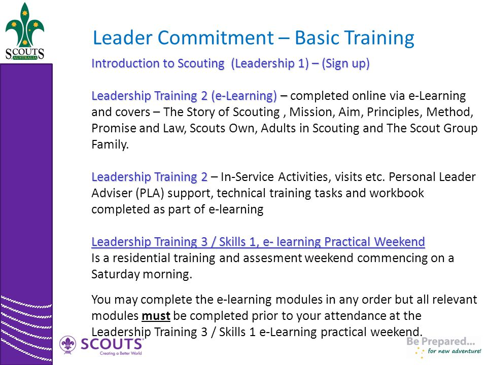 Leader Commitment – Basic Training